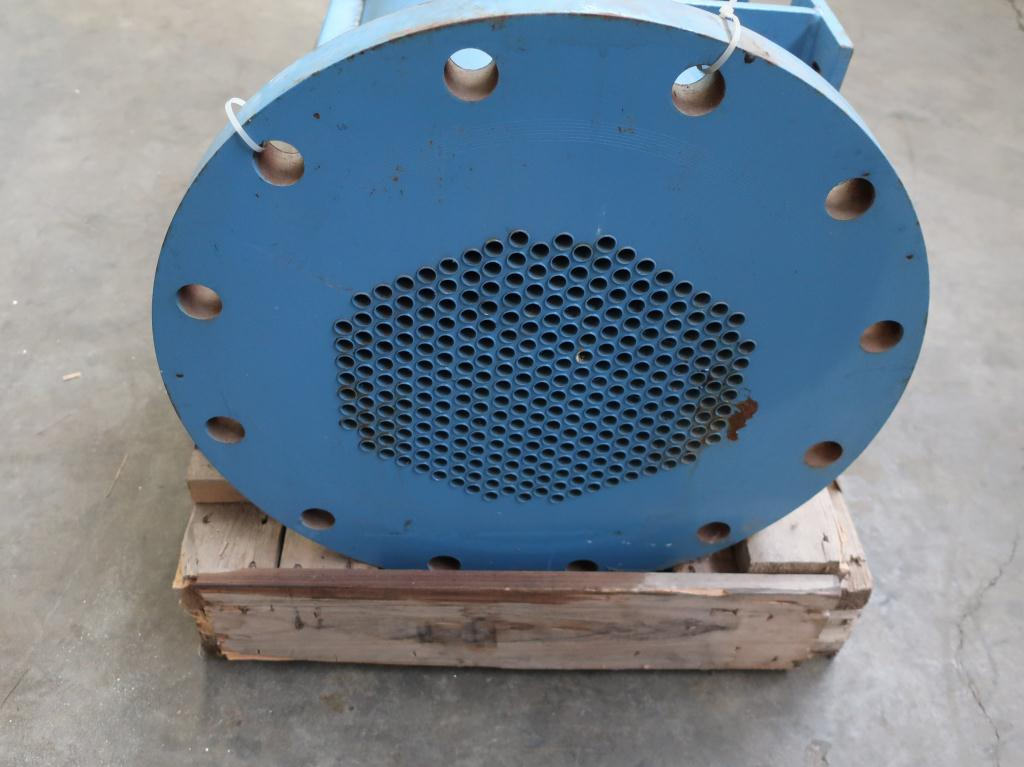 Heat Exchanger 93.2 sq.ft. Ipac 2000 Inc. shell and tube heat exchanger, 200 psi shell, 200 psi internal, 304 SS5