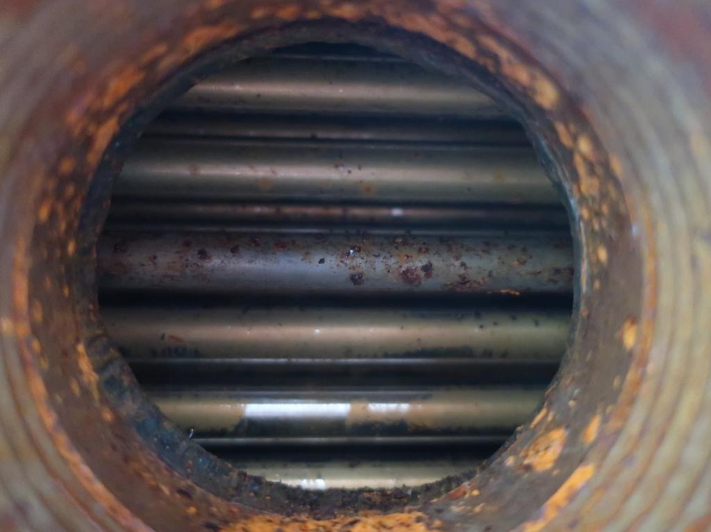 Heat Exchanger 93.2 sq.ft. Ipac 2000 Inc. shell and tube heat exchanger, 200 psi shell, 200 psi internal, 304 SS6