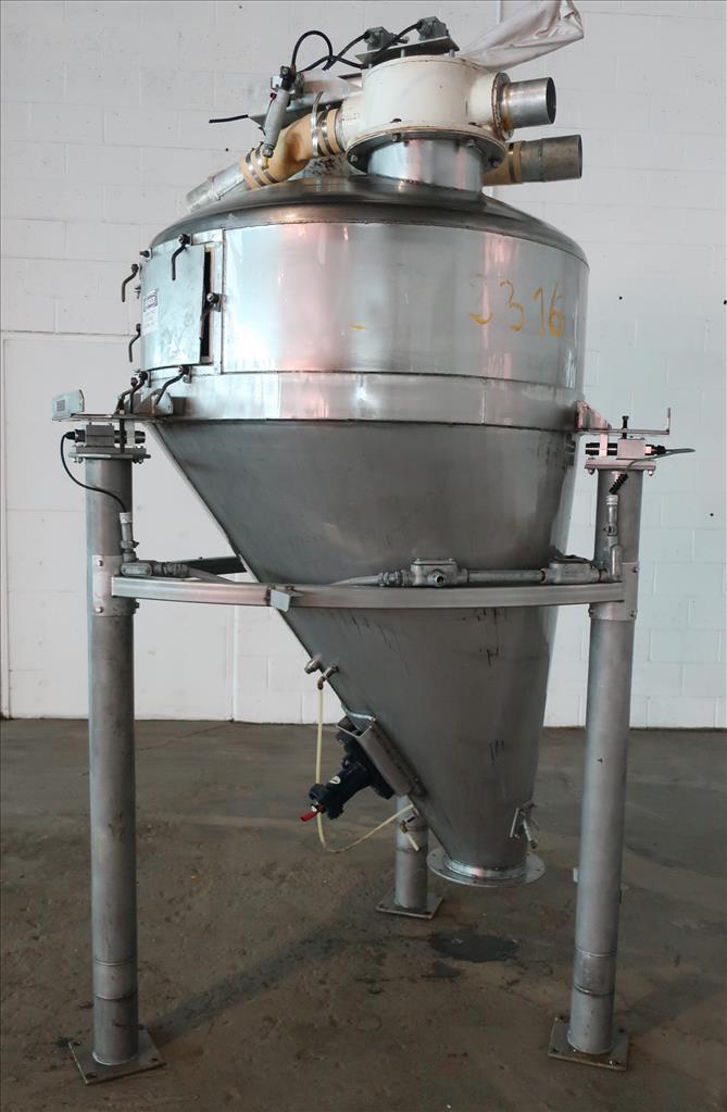 Bin Hopper Silo 40 cu.ft., bulk storage bin, Stainless Steel1