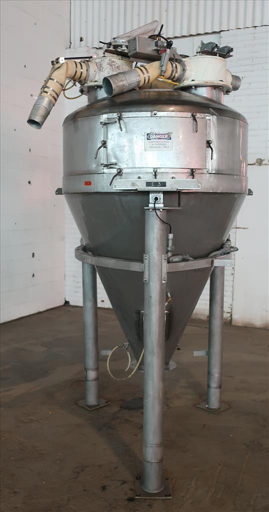 Bin Hopper Silo 40 cu.ft., bulk storage bin, Stainless Steel2