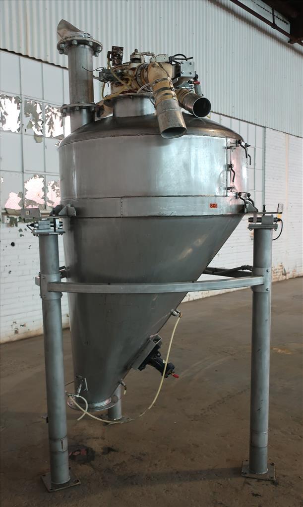 Bin Hopper Silo 40 cu.ft., bulk storage bin, Stainless Steel3