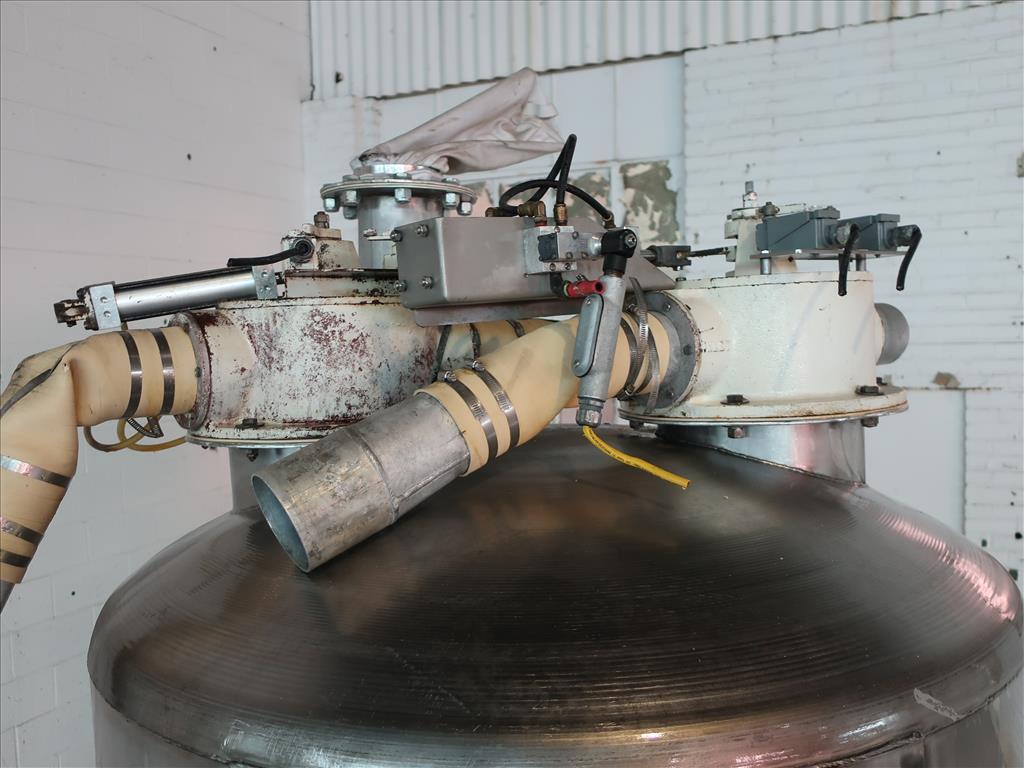 Bin Hopper Silo 40 cu.ft., bulk storage bin, Stainless Steel7