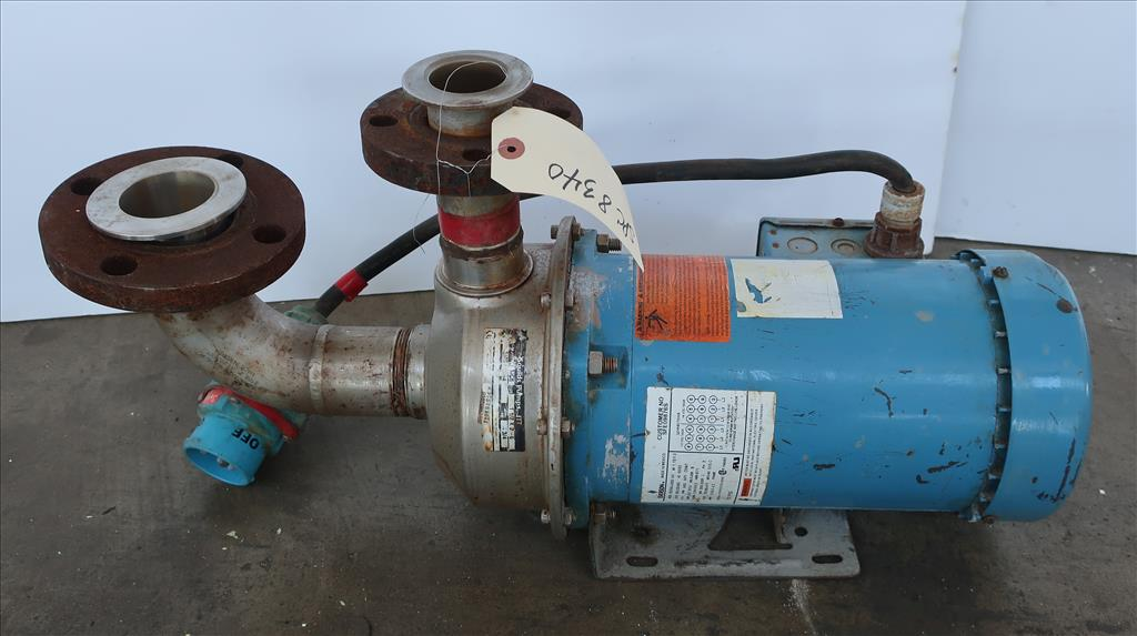 Pump 1-1/2x 2-6 Goulds centrifugal pump, 3 hp, Stainless Steel