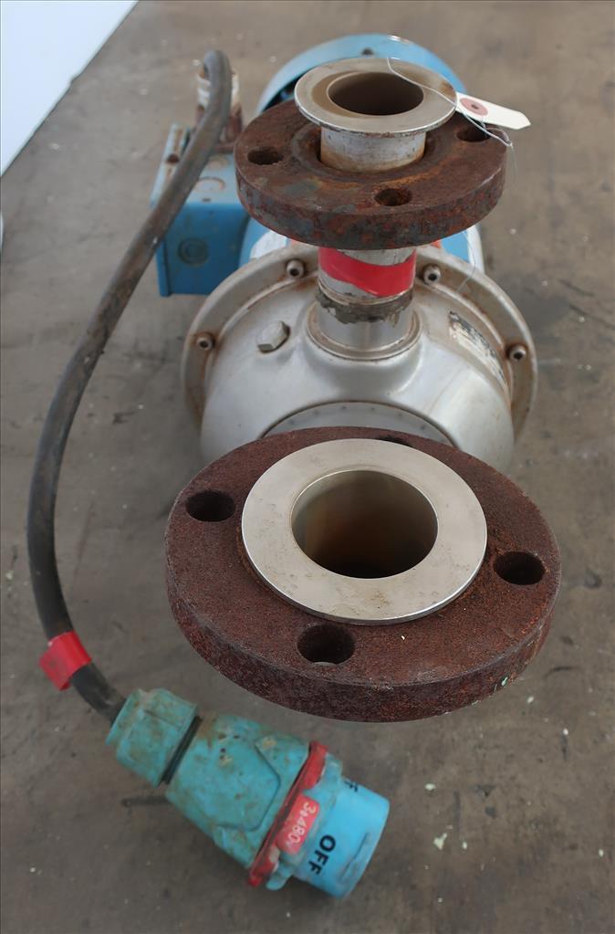 Pump 1-1/2x 2-6 Goulds centrifugal pump, 3 hp, Stainless Steel2