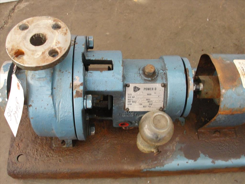 Pump 1x1.5x6 Power D centrifugal pump, 5 hp, 316 SS5