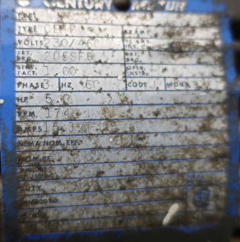 Compressor 5 hp Quincy air compressor model 325 155