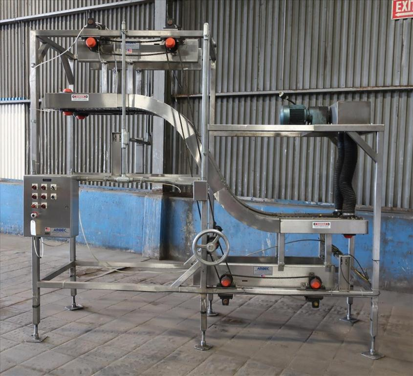Conveyor AMBEC lowerator Stainless Steel, 38 discharge ht. and 80 infeed ht.2