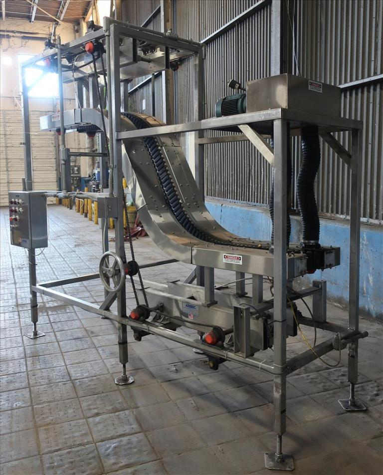 Conveyor AMBEC lowerator Stainless Steel, 38 discharge ht. and 80 infeed ht.3