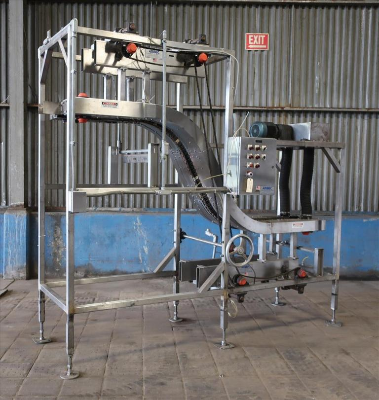 Conveyor AMBEC lowerator Stainless Steel, 38 discharge ht. and 80 infeed ht.1