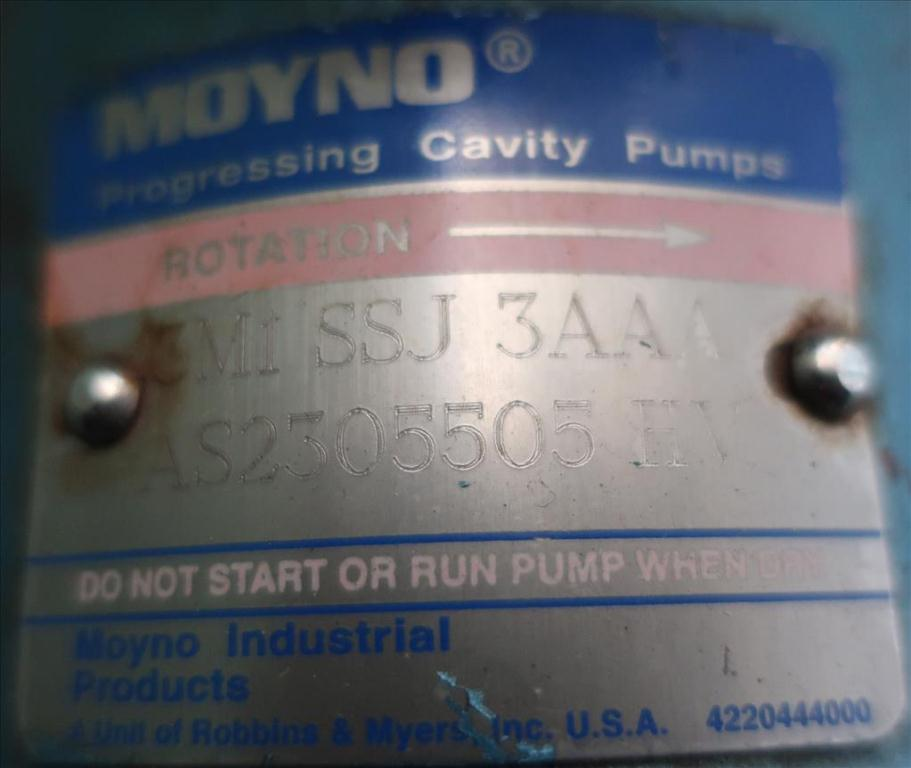 Pump Moyno progressive cavity pump model 3M1-SSJ-3AAA, 1/2 hp, Stainless Steel4