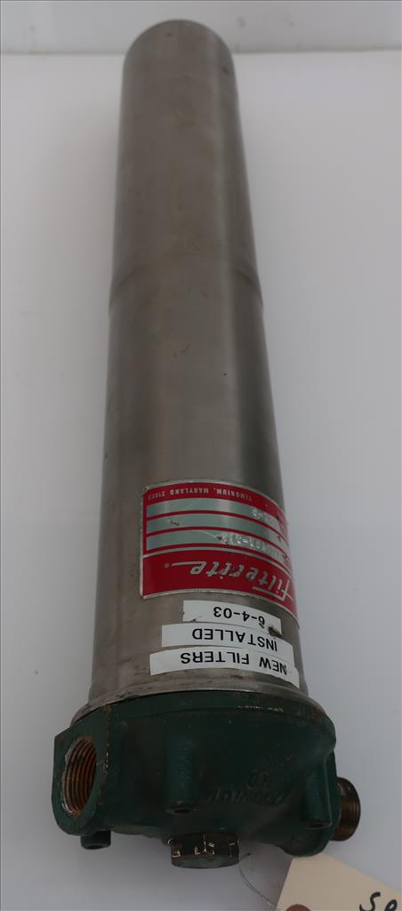 Filtration Equipment Filterite cartridge filter model LMO20B-3/4, Stainless Steel3
