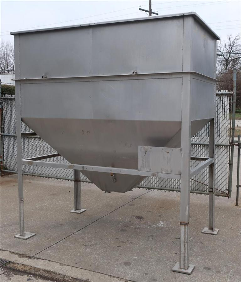 Bin 84 cu.ft., bulk storage bin, Stainless Steel1