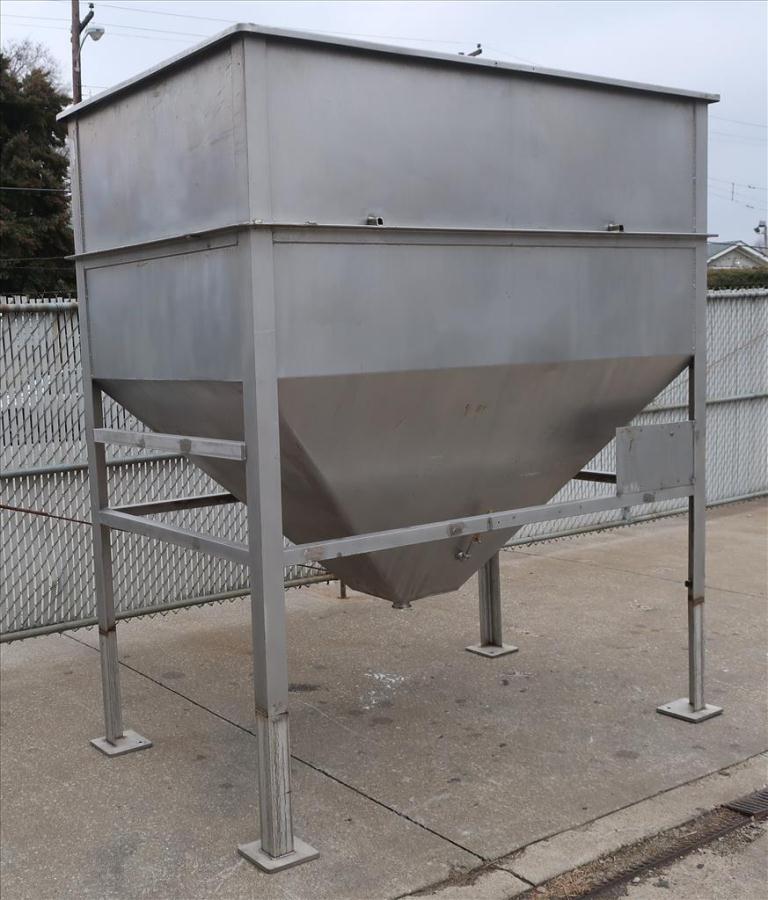 Bin 84 cu.ft., bulk storage bin, Stainless Steel2