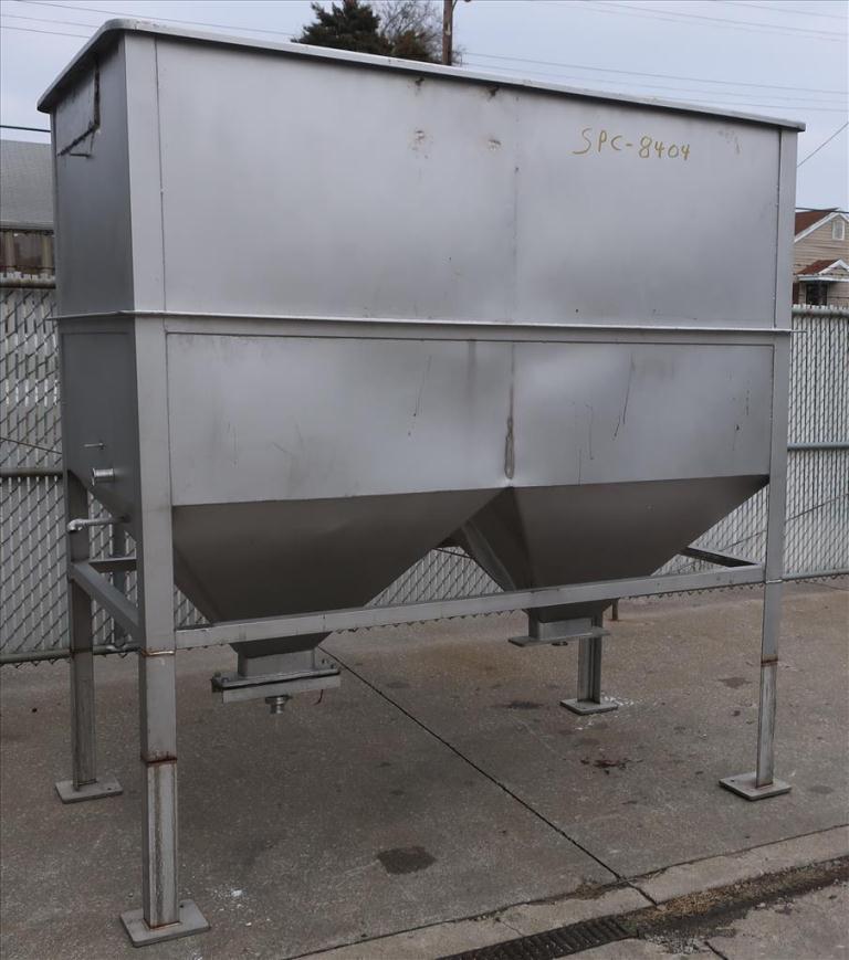 Bin 126 cu.ft., bulk storage bin, Stainless Steel1