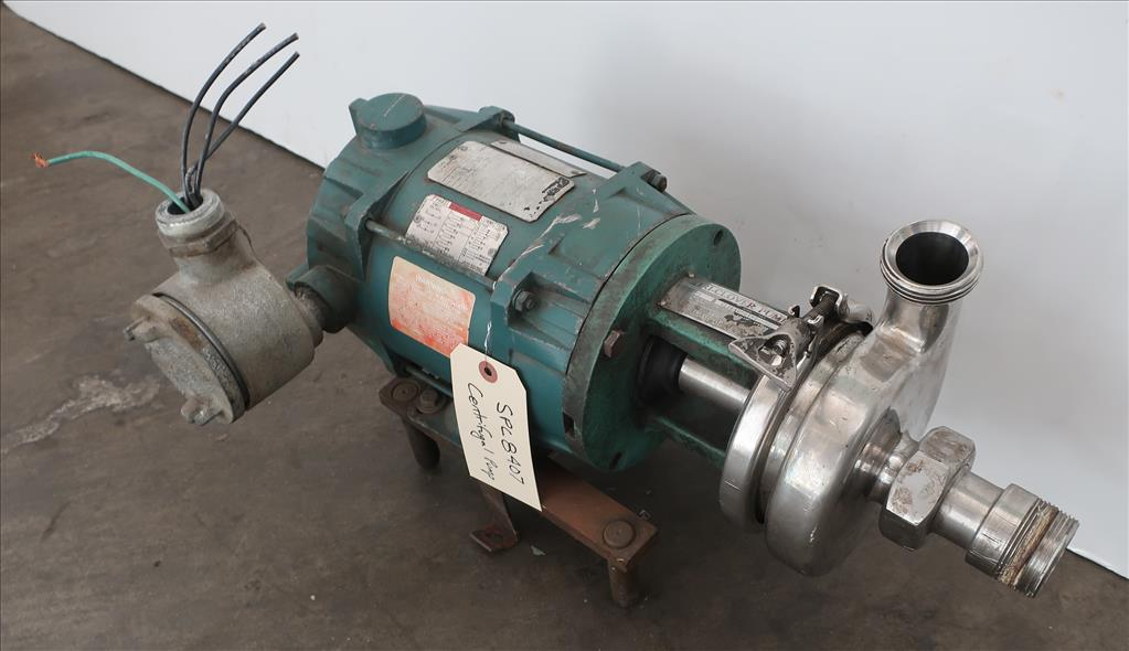 Pump 1.5x 1.5x 5 Triclover centrifugal pump, 1/2 hp, Stainless Steel, xp2