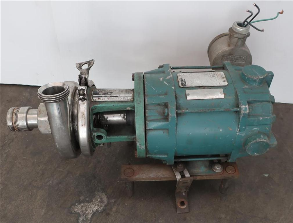 Pump 1.5x 1.5x 5 Triclover centrifugal pump, 1/2 hp, Stainless Steel, xp3
