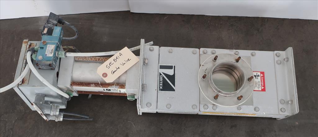 Valve 4 Salinia Vortex gate valve, pneumatic, Stainless Steel Contact Parts1