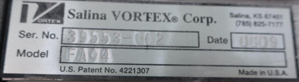 Valve 4 Salinia Vortex gate valve, pneumatic, Stainless Steel Contact Parts3