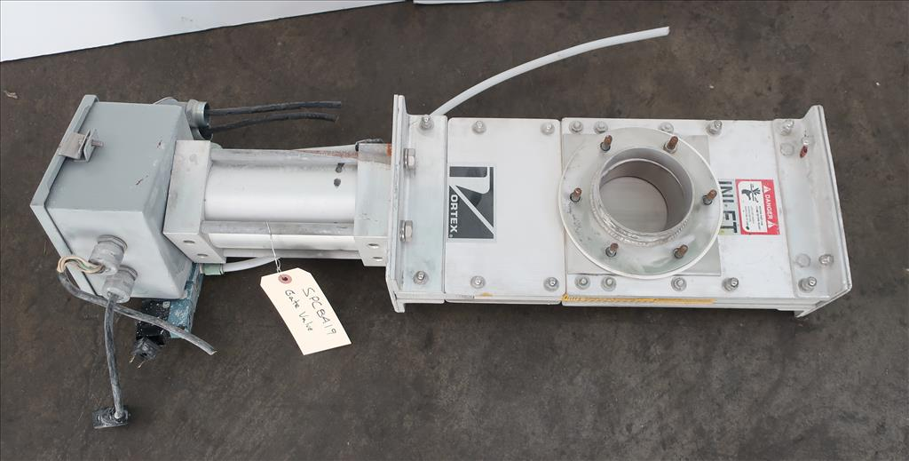 Valve 4 Salinia Vortex gate valve, pneumatic, Stainless Steel Contact Parts1