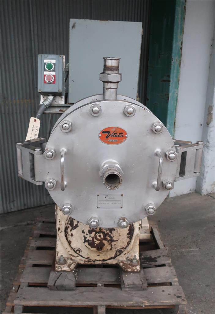 Mixer and Blender 30 hp Votator emulsifier mixer, model CR16, Stainless Steel Contact Parts2