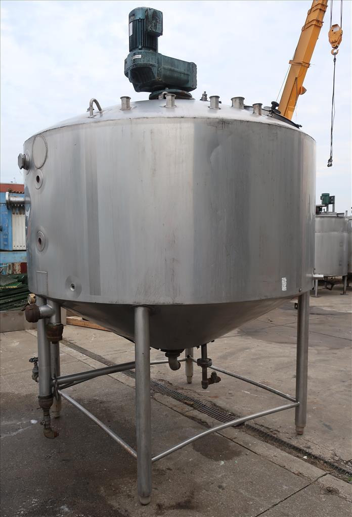 Kettle 1000 gallon Walker processor kettle, agitator Top mount, 15 psi jacket rating, Stainless Steel2