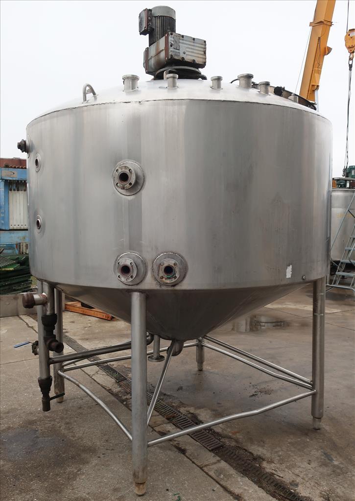 Kettle 1000 gallon Walker processor kettle, agitator top mount, 15 psi psi jacket rating, 304 SS2