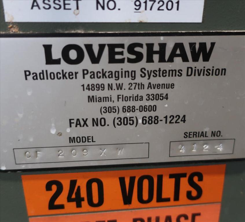Case Former Loveshaw case former sealer model CF209 XW, bottom hotmelt seal, 5 to 15 cpm9
