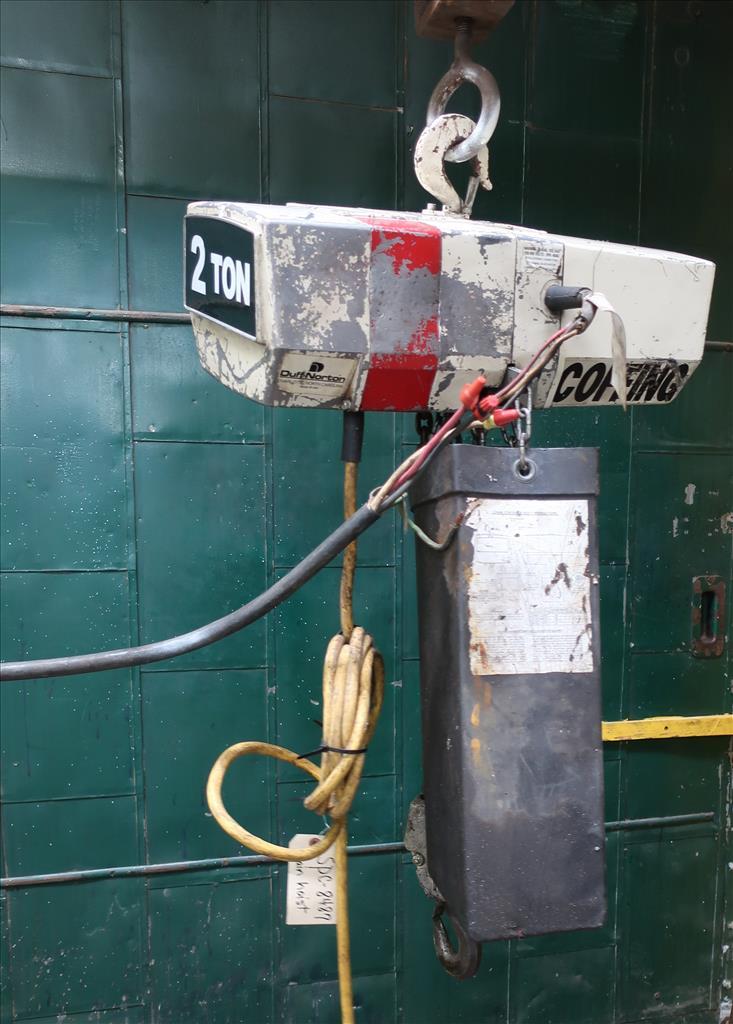 Material Handling Equipment chain hoist, 4000 lbs. Coffing Hoists model EC.4008.33
