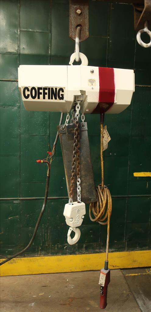 Material Handling Equipment chain hoist, 4000 lbs. Coffing Hoists model EC.4008.34