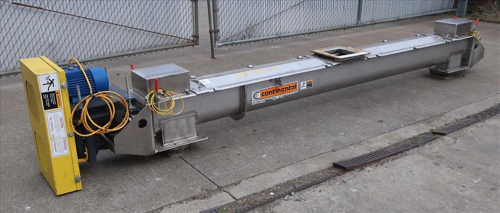 Conveyor Continental Conveyor screw conveyor model TD-123-0016D, Stainless Steel, 9dia. x 144long1