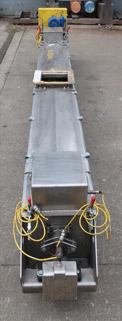 Conveyor Continental Conveyor screw conveyor model TD-123-0016D, Stainless Steel, 9dia. x 144long3