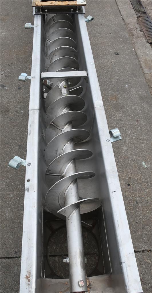 Conveyor Continental Conveyor screw conveyor model TD-123-0016D, Stainless Steel, 9dia. x 144long4