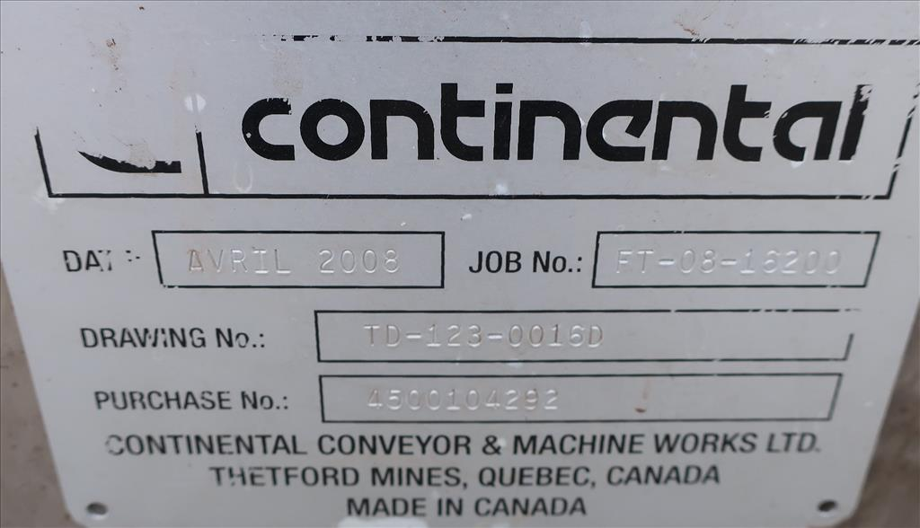 Conveyor Continental Conveyor screw conveyor model TD-123-0016D, Stainless Steel, 9dia. x 144long5