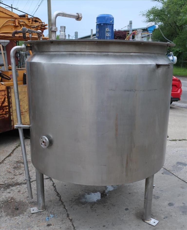 Tank 280 gallon vertical tank, Stainless Steel, .31 KW agitator, dish bottom2