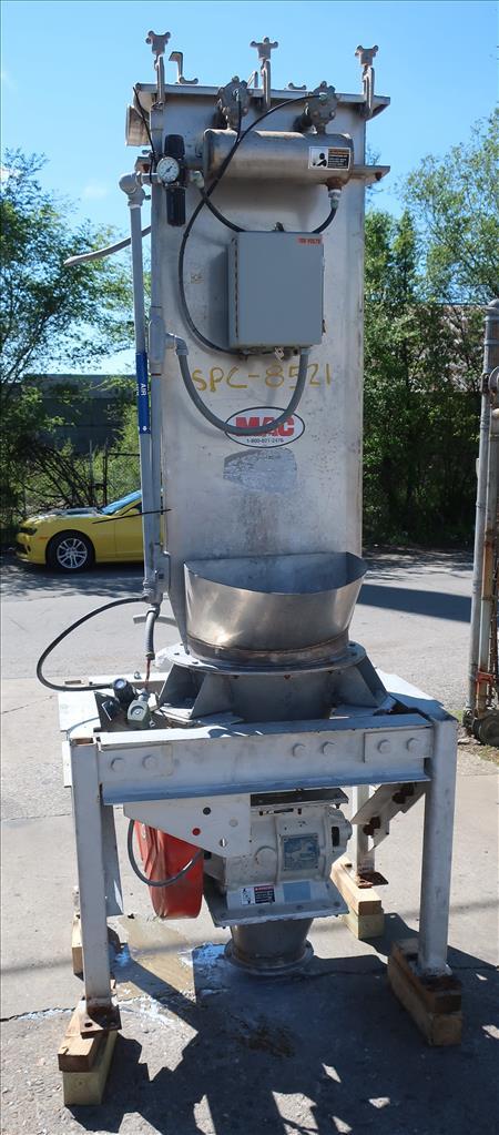 Material Handling Equipment bag dump station, 40.25 x 28.5 x 98.25 MAC Stainless Steel1