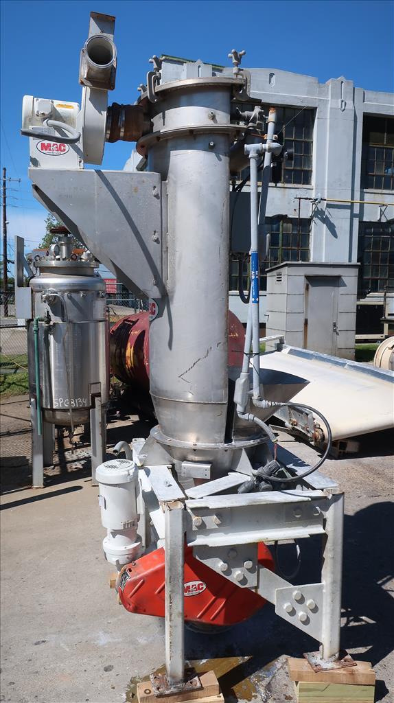 Material Handling Equipment bag dump station, 40.25 x 28.5 x 98.25 MAC Stainless Steel2