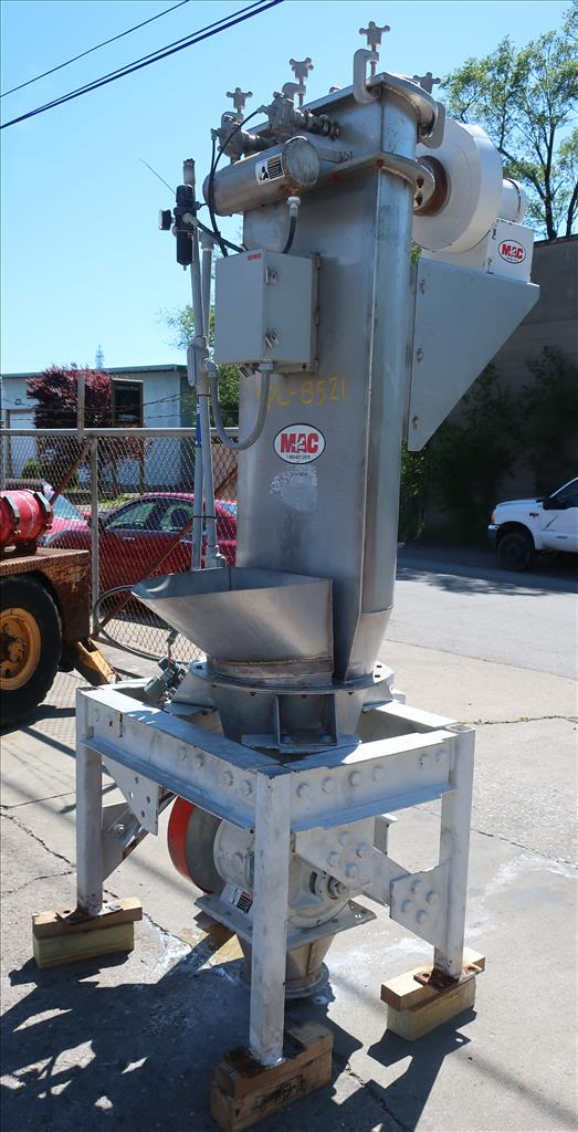Material Handling Equipment bag dump station, 40.25 x 28.5 x 98.25 MAC Stainless Steel4