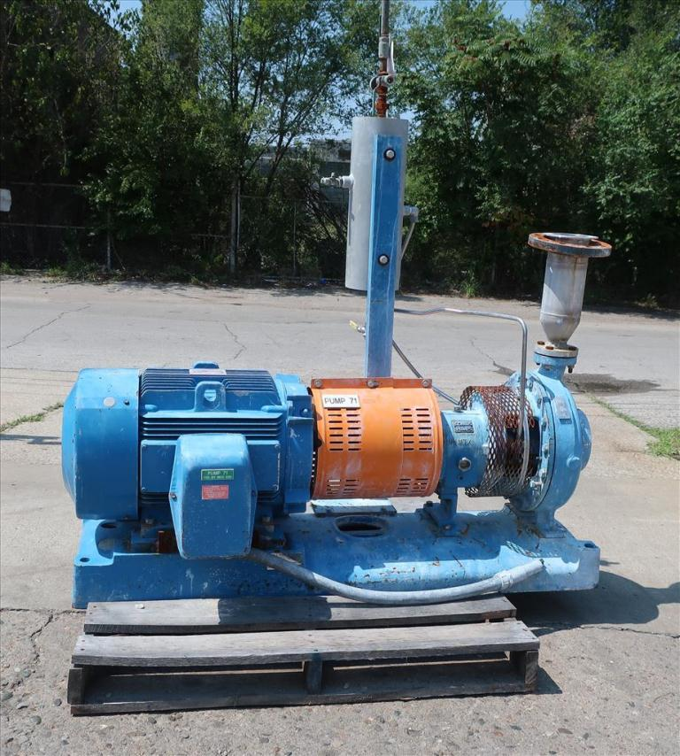 Pump 1.5 x 3 x 12 GOULDS centrifugal pump, 50 hp, CD42