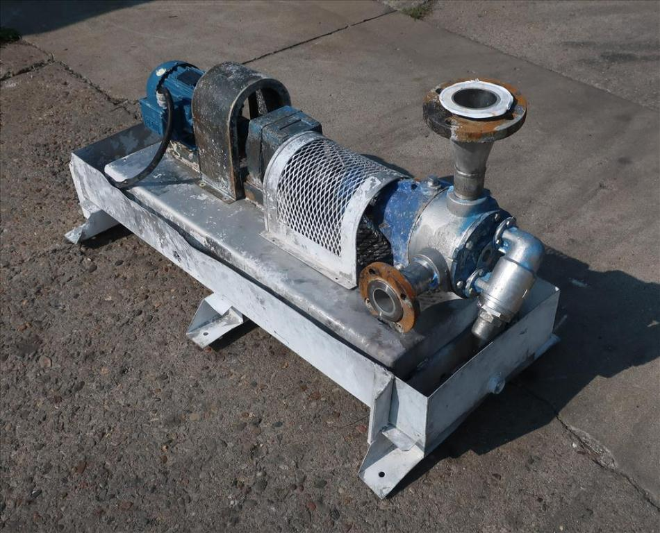 Pump 2 inlet Viking positive displacement pump model K4724, 1.0 hp, 316 SS1