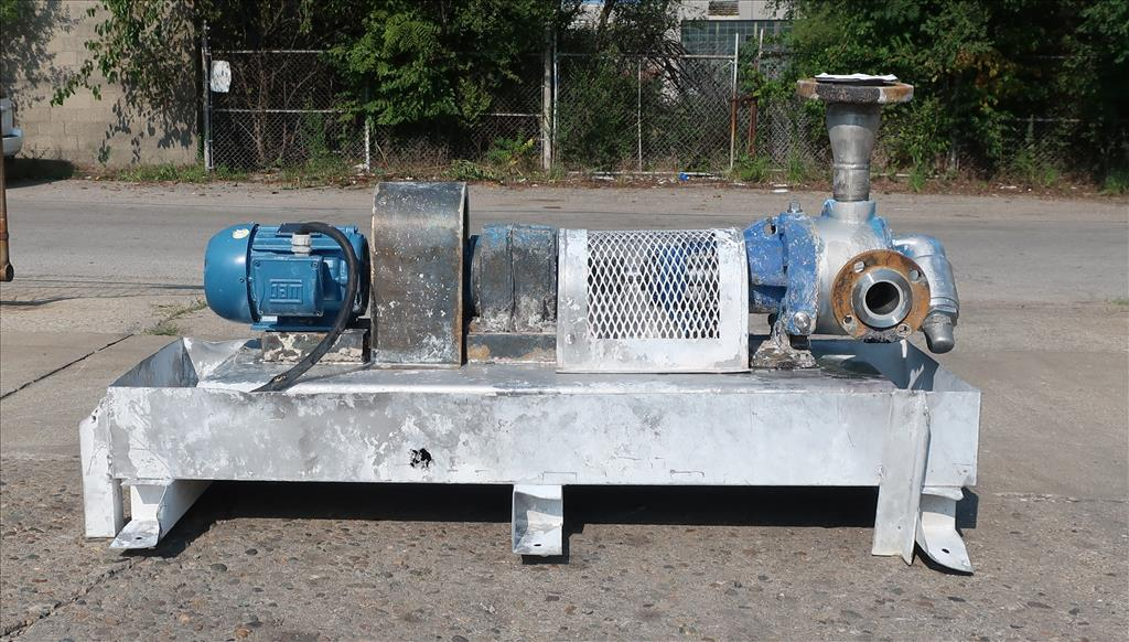 Pump 2 inlet Viking positive displacement pump model K4724, 1.0 hp, 316 SS2