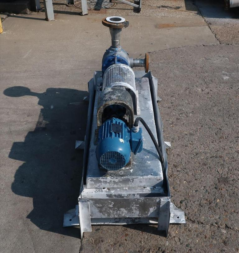 Pump 2 inlet Viking positive displacement pump model K4724, 1.0 hp, 316 SS3