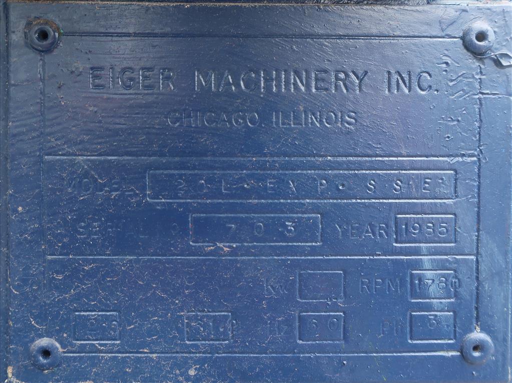 Mill Eiger Machinery horizontal media mill model 20L EXP SSE, 20 L, CS8