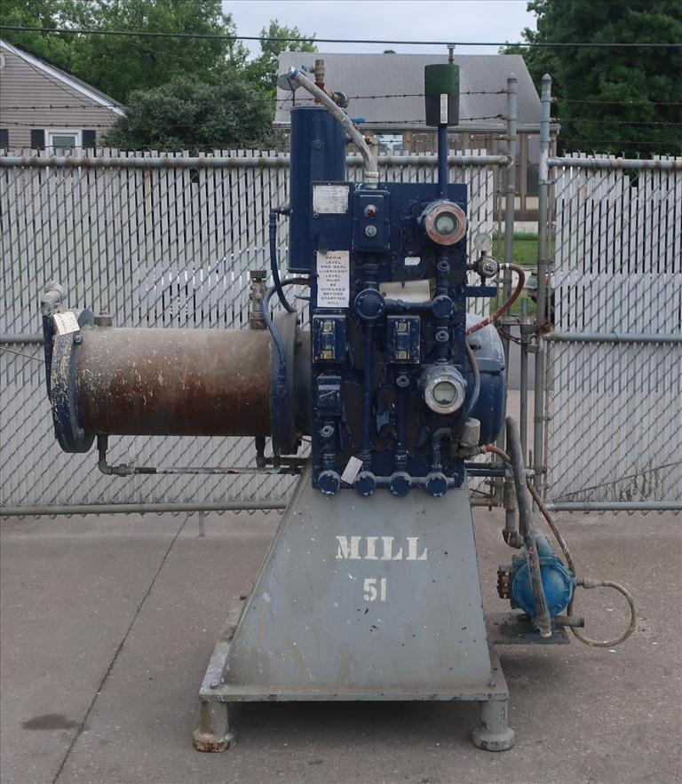 Mill Eiger Machinery horizontal media mill model ABM 40H EXP, 40 L, CS2