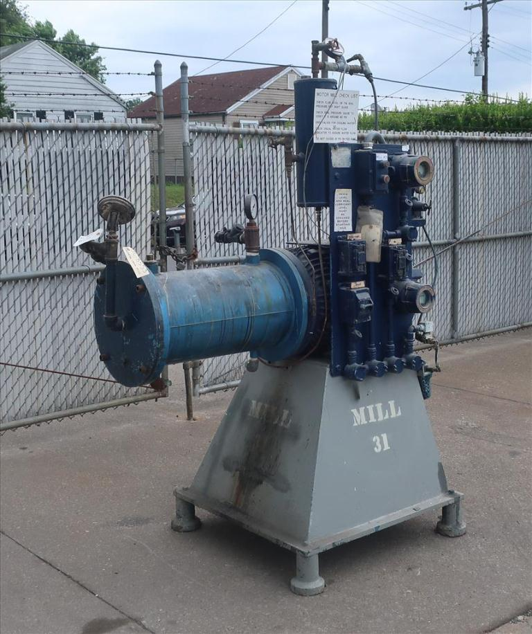 Mill Eiger Machinery horizontal media mill model ABM 40H EXP, 40 L, CS1