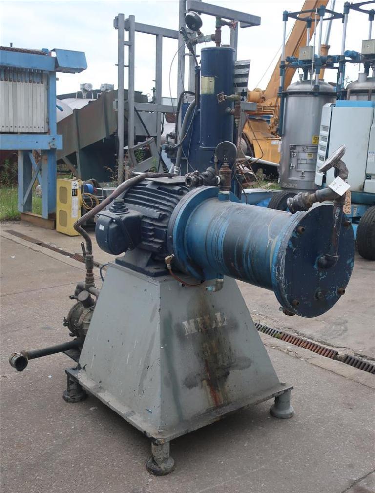 Mill Eiger Machinery horizontal media mill model ABM 40H EXP, 40 L, CS4