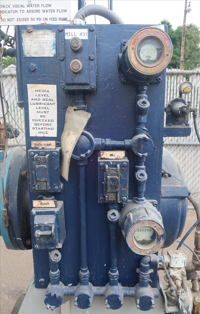 Mill Eiger Machinery horizontal media mill model ABM 40H EXP, 40 L, CS8