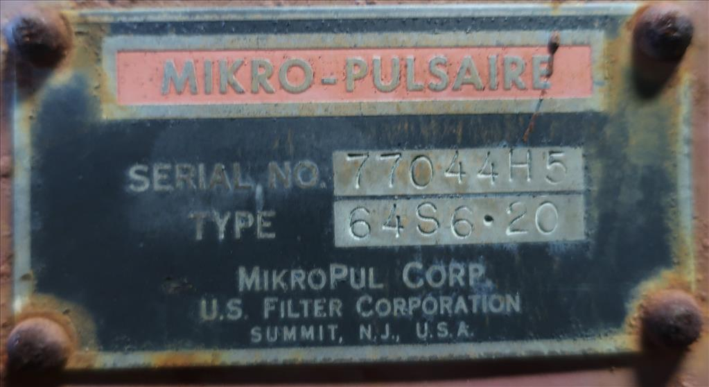 Dust Collector 450 sq.ft. Mikro-Pulsaire reverse pulse jet dust collector8