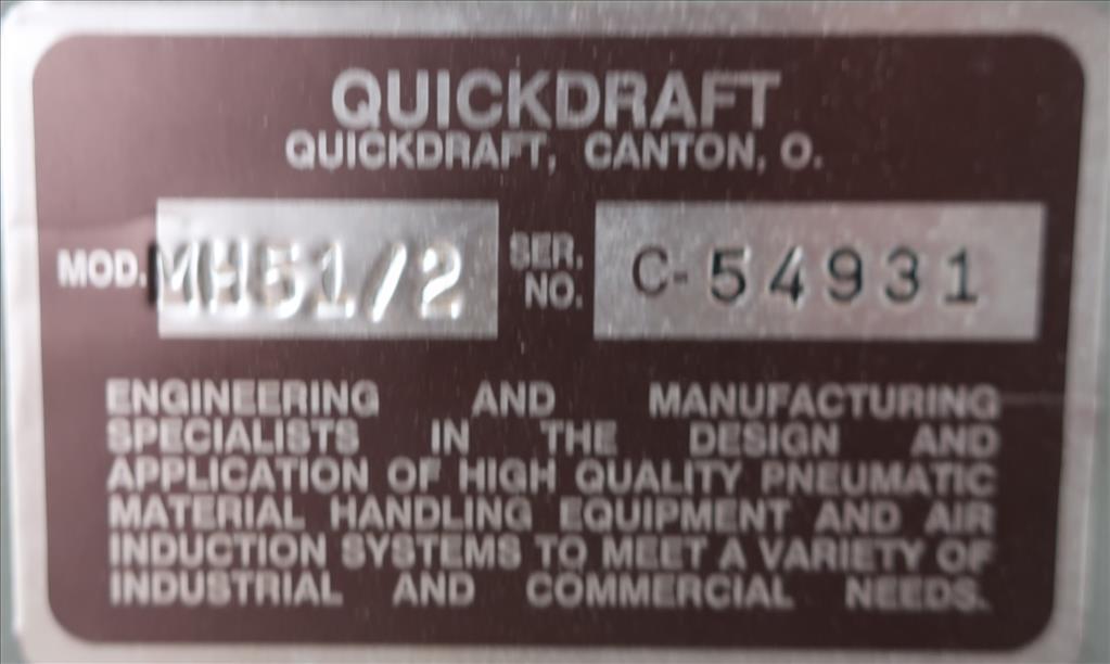 Blower centrifugal fan Quickdraft model MH-5 1/2, 7.5 hp, CS6