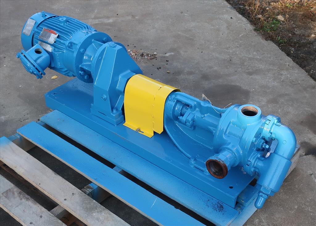 Pump 2 inlet Viking positive displacement pump model KK124, 3 hp, Cast Iron1