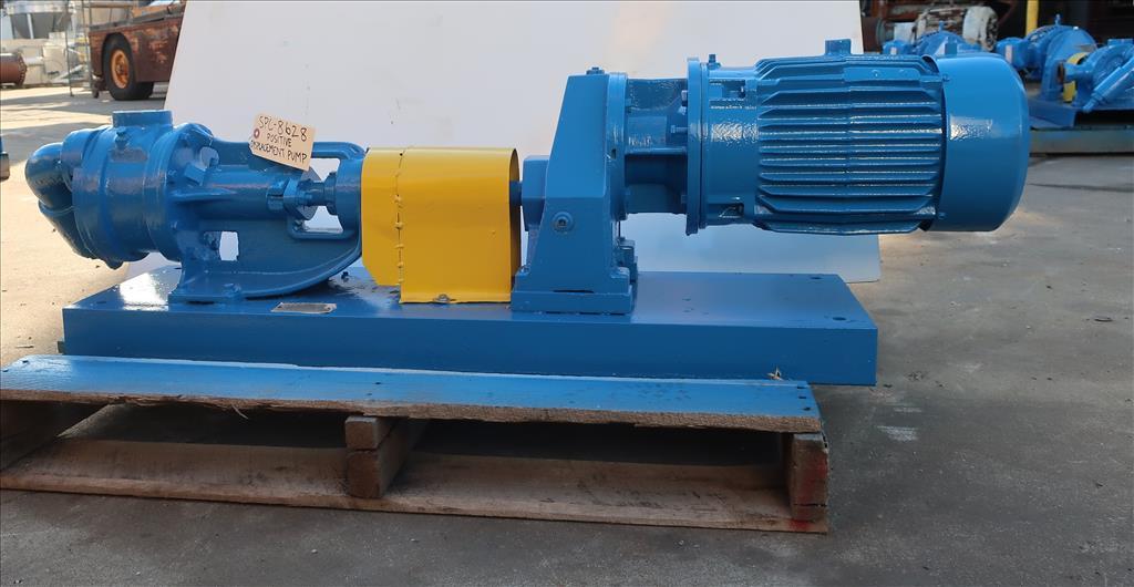 Pump 2 inlet Viking positive displacement pump model KK124, 3 hp, Cast Iron3